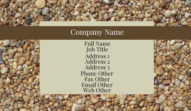 Pebbles Business Card Template